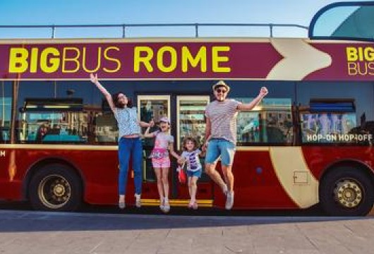 Rome Hop-On-Hop-Off Bus Ticket