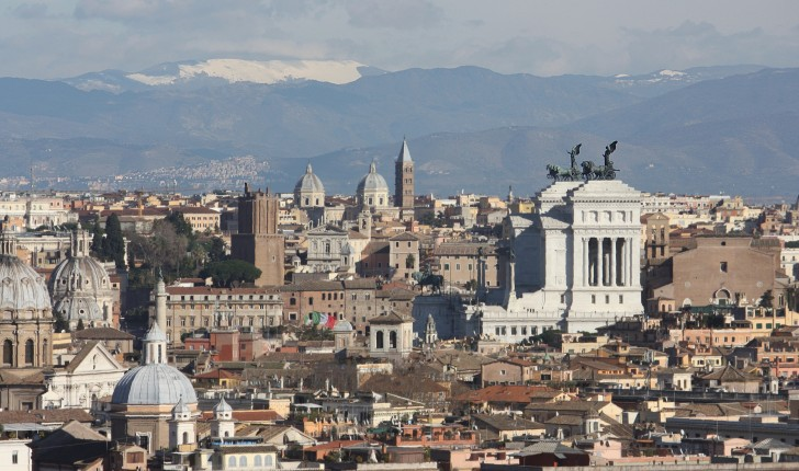 The view from San Gianicolo Hill