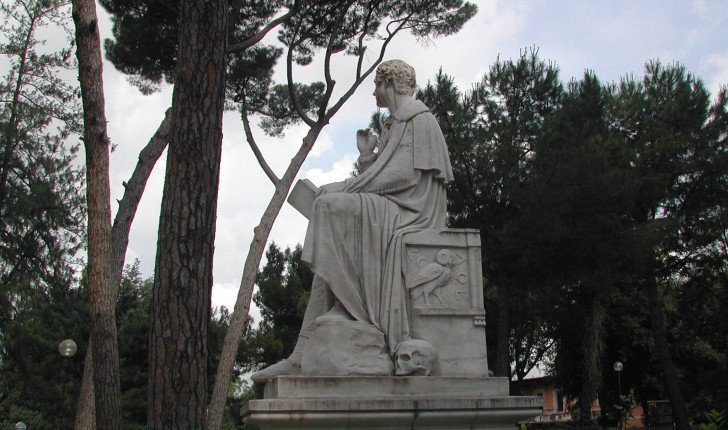 Statue of Lord Byron, Villa Borghese Gardens