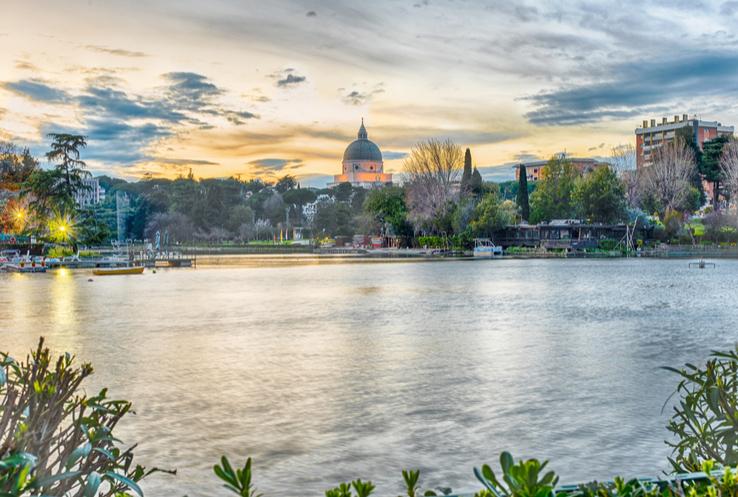 Eur Lake in Rome